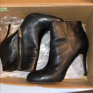 Black leather booties (Banana Republic)